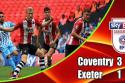 "Coventry - Exeter <span style=""white-space: nowrap;"">3-1</span>"