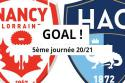 "Nancy - Le Havre <span style=""white-space: nowrap;"">0-1</span>"